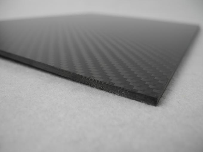 Multi-axle vehicle Sheets Of Carbon Fiber 3K Twill Glossy 2.5mm thickness