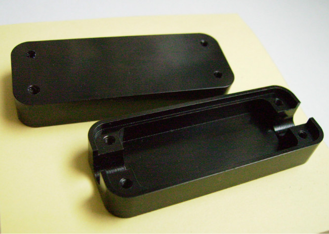 Custom processing black anodized aluminum cover and enclousre 6061 OEM