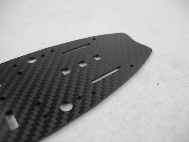 Thickness 1mm 2mm Carbon Fiber CNC Service Multicopter Parts Twill Weave