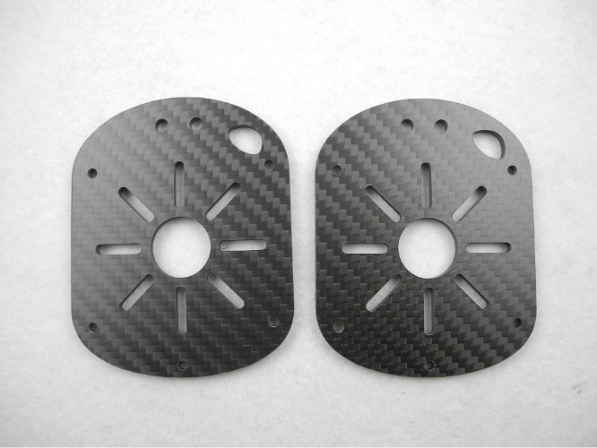 Multicopters 3.0mm Carbon Fiber CNC Service 550mm×650mm  Max Machining Dimension