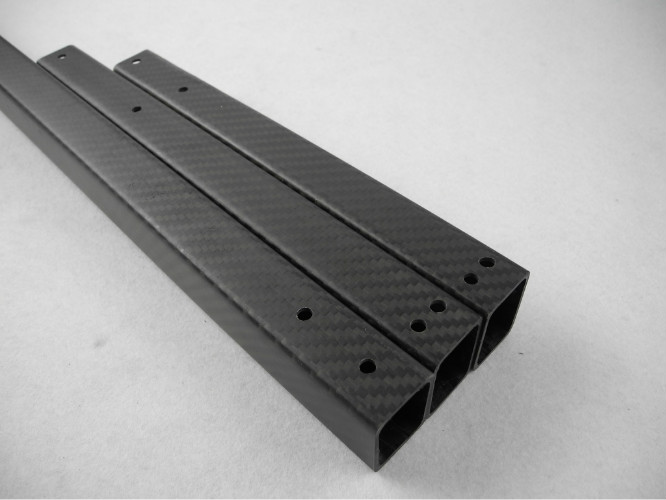 Corrosion Resistant Good Hardness Rectangular Carbon Fiber Tube Building Structure Use