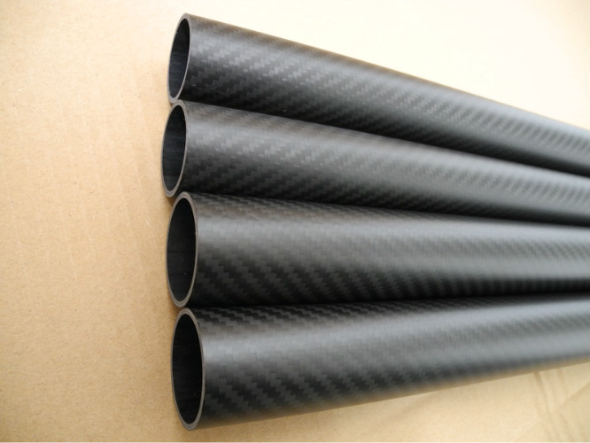 High strength carbon fiber pipe support bar mechanical parts not rust corrosion