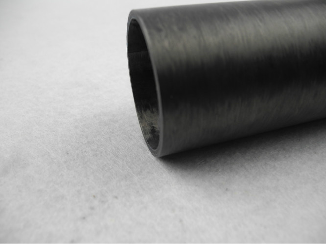 High Strength T200 carbon fiber Pipes , Winding Single Filament Wound Tubing