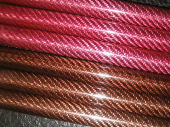 Color twill high strength Fiberglass Poles fiber tube Smooth Weave