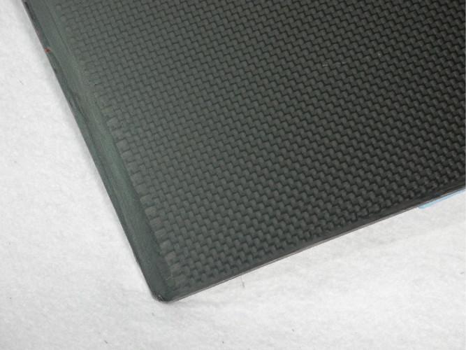 Black High Tensile Strength 1mm Carbon Fiber Plate For