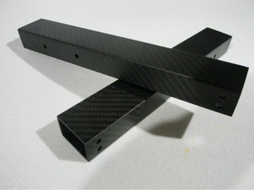 Square 3 k Rectangular carbon fiber tube high strength