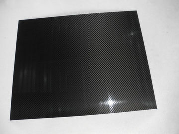 China Abrasion-Resistant Twill Glossy Carbon Fiber Plate thickness 0.5mm with 3K material supplier
