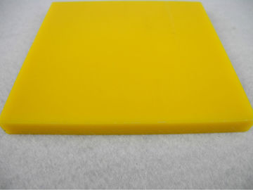 Heat resistance 180 ℃ Nylon Parts , Nylon sheet / Plate bar insulation Yellow