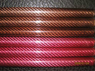 China Color twill high strength Fiberglass Poles fiber tube Smooth Weave supplier