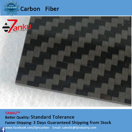 China Carbon Fiber Sheets 2.5thk Full CF Plate Woven Carbon Fiber Sheet Twill 3k supplier